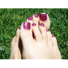CND Glitter Gel Pedicure