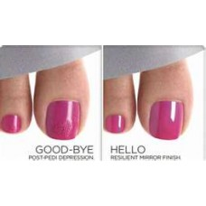 CND Shellac, Glitter or French Pedicure